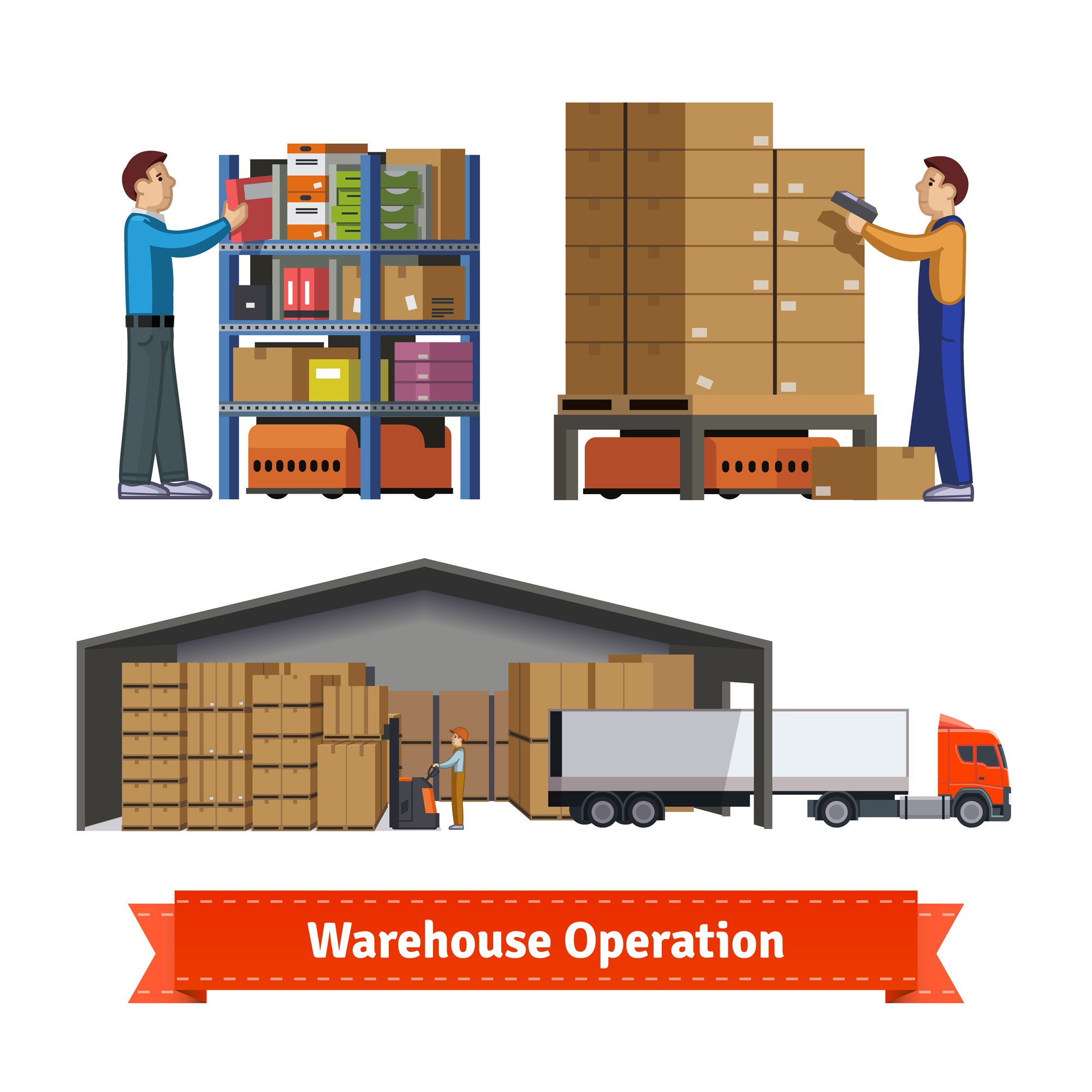 Warehouse operations, workers and robots