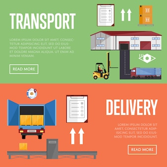 Warehouse process infographics vector illustration
