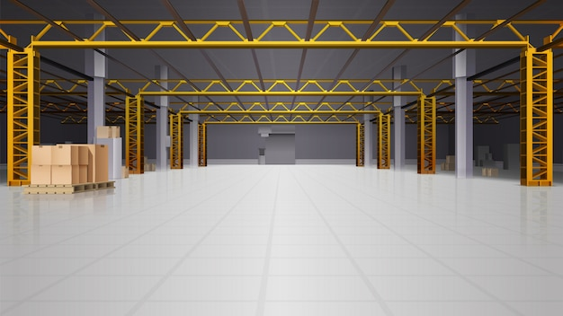 Warehouse realistic background