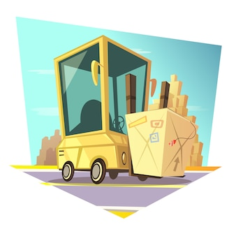 Warehouse retro cartoon
