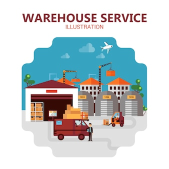 Warehouse service illustration