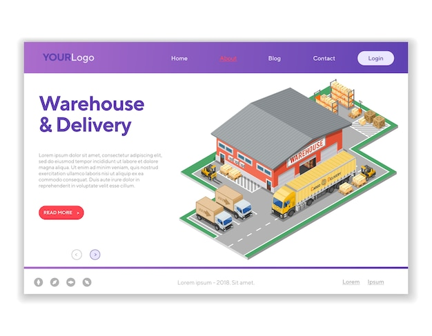 Warehouse storage and delivery i