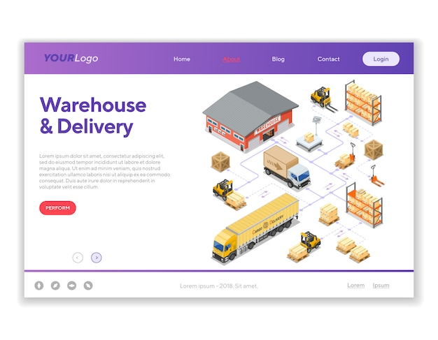 Warehouse storage and delivery