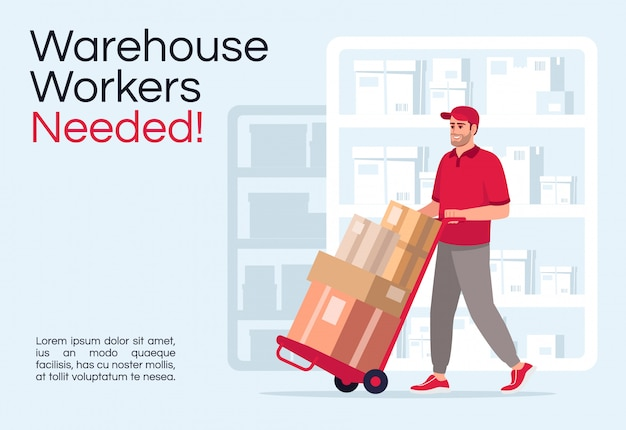 Warehouse workers needed poster template
