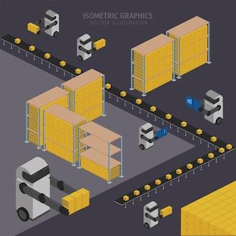 Warehousing chain illustration
