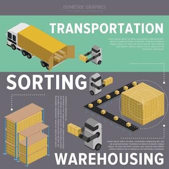 Warehousing process illustration