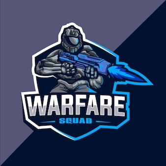 Warfare squad esport logo design
