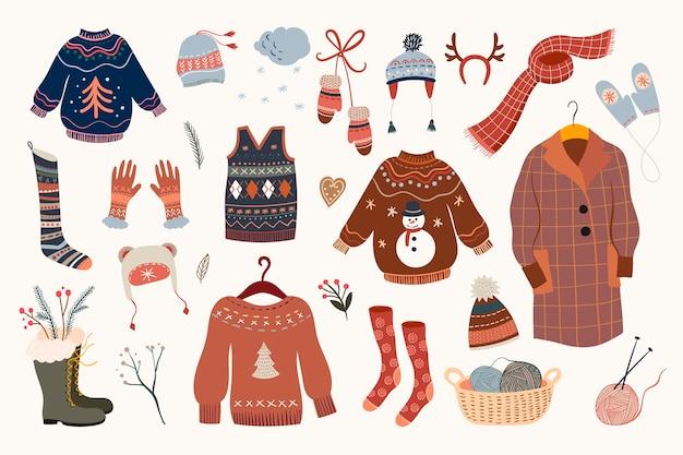 暖かく居心地の良い服のコレクション