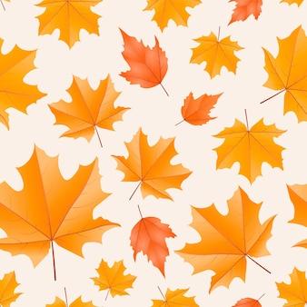 modello senza cuciture caldo foglia d'autunno