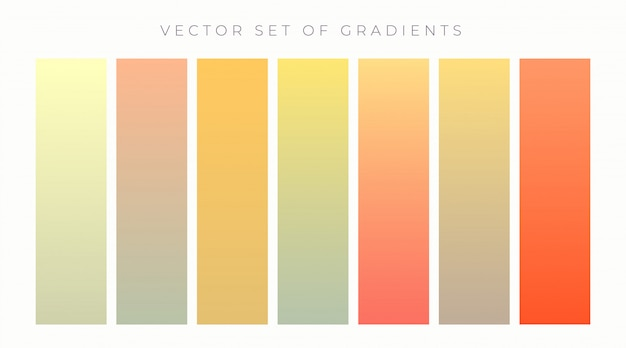 Warm colors vibrant gradient set vector illustration