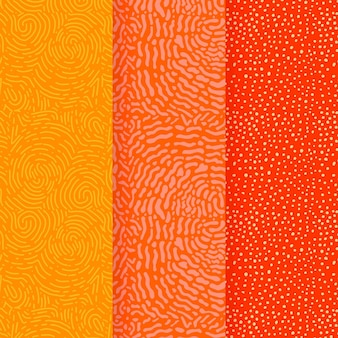 Warm colours of lines seamless pattern template