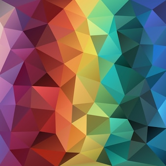 Warm emarald and sapphire green polygonal background