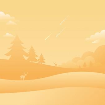 暖かい空の風景流れ星自然の背景