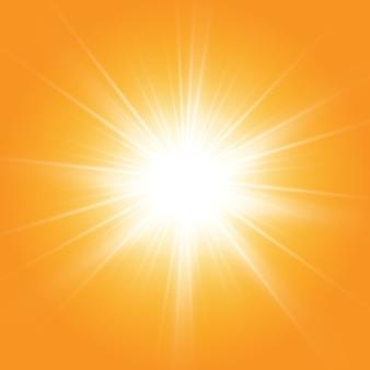 暖かい太陽。 leto.bliki太陽光線。