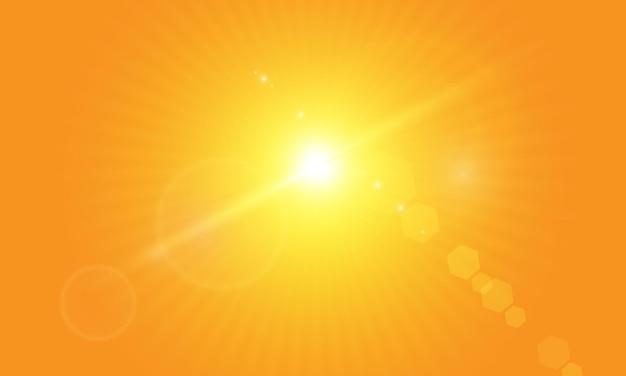 Warm sun on a yellow background letobliki solar raysrange yellow background