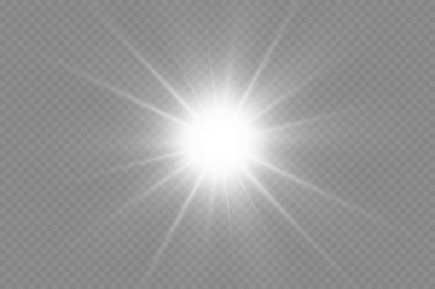 Warm sun on a yellow background. solar rays.