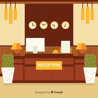 Warm tones hotel reception background