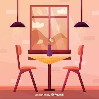 Warm window illustration