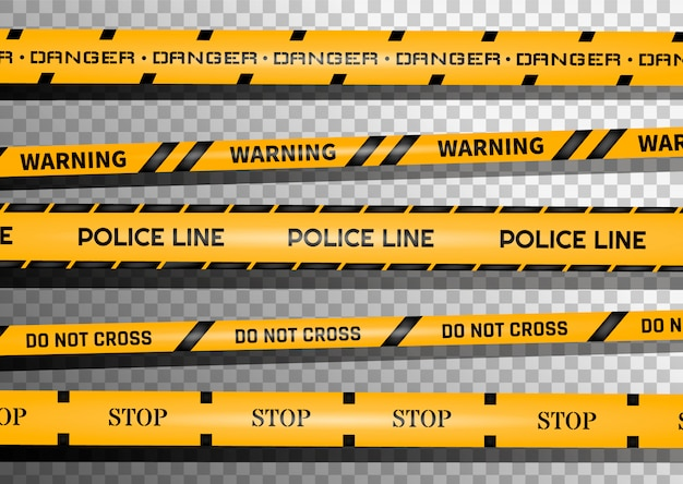 Warning black and yellow striped line.