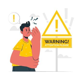 Illustrazione del concetto di avvertenza