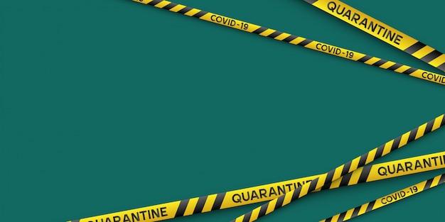 Warning coronavirus quarantine banner.