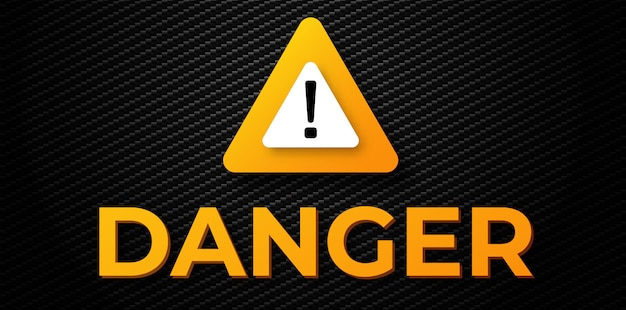 Warning danger  banner
