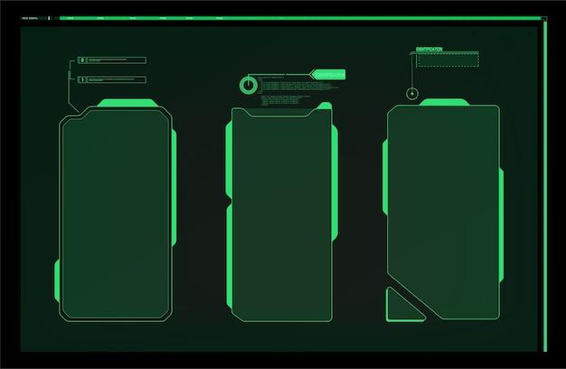 Рамка предупреждения. абстрактный технический дизайн сине-красная футуристическая рамка в современном hud