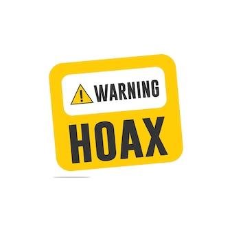 Warning hoax logo