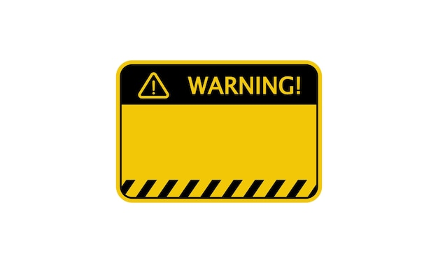 Warning sign. empty blank. vector on isolated background. eps 10.
