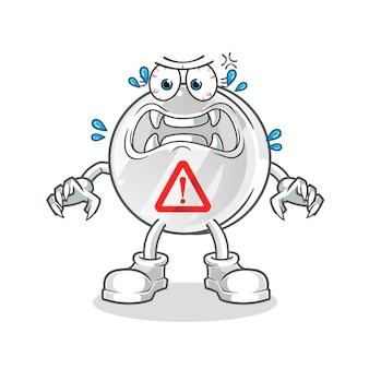 경고 기호 괴물 만화 캐릭터