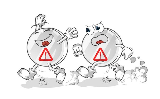 警告サインプレイチェイス漫画