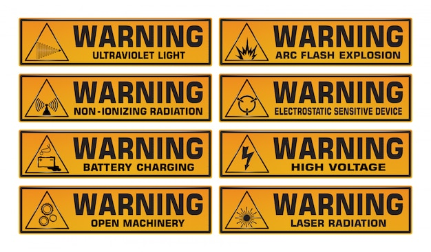 Предупреждающий знак установлен.