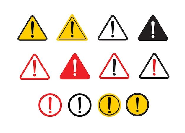Warning sign on white background