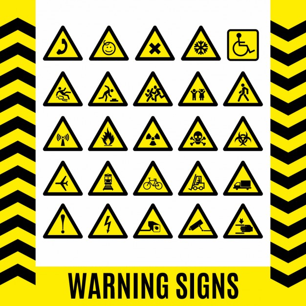 Warning signs set