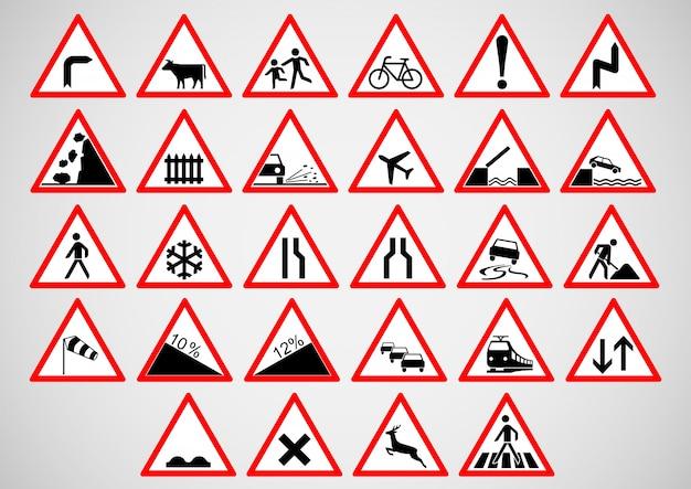 Warning street sign