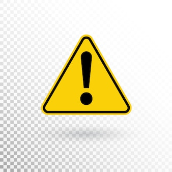 Warning symbol. attention button. warning sign. exclamation mark icon in flat style