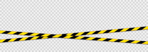 Warning tapes against threats. black yellow striped line.