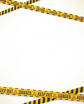 警告テープのデザインテンプレート
