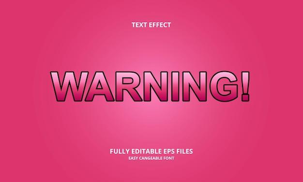 Предупреждающий текстовый эффект