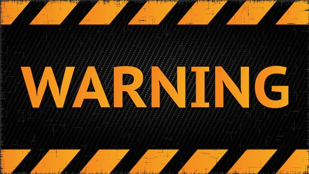 Warning wall yellow banner