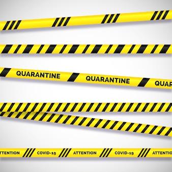 위험 현실적인 줄무늬에 대한 경고