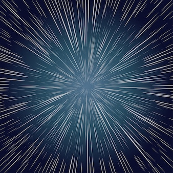 Звезды деформации. масштабирование через космос, галактика взрыва луча. абстрактный фон
