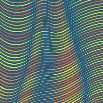 Deformato sfondo di linee colorate