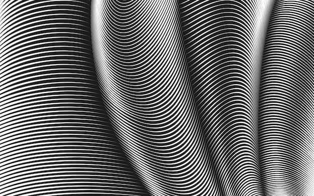 Warped lines background