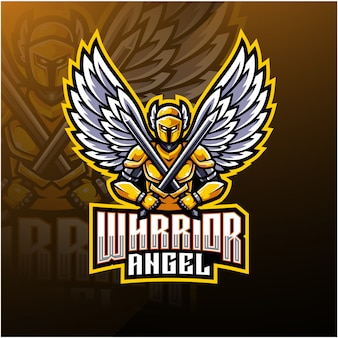 Warrior angel mascot logo design