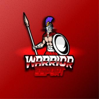 戦士のゲームのロゴ、編集可能なテキスト効果