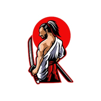 Воин, японский, искусство, япония, человек, иллюстрация, черный, традиционный, характер, красный, азиатский, силуэт, доспехи