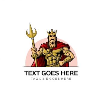 Warrior king illustration