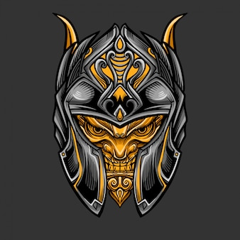 Warrior knight helmet