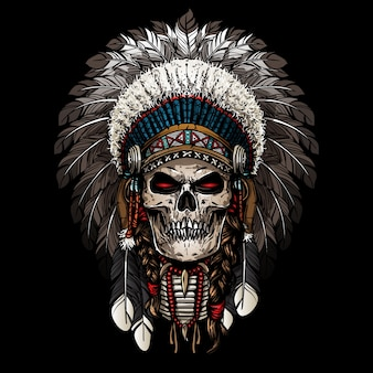 Warrior of indian skull